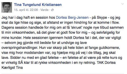 Tina Tungelund. Vidnesbyrd